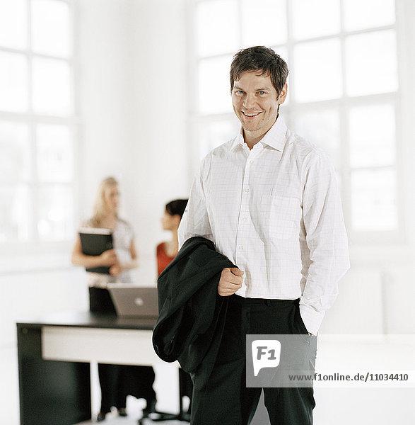 Man in an office.