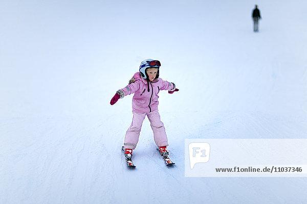 Girl skiing  Sweden.