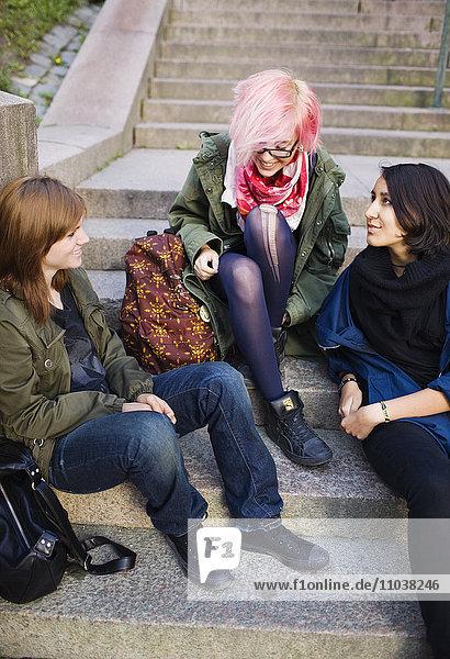 Teenage girls being together  Sweden.