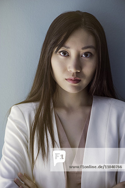 Woman with serious expression  portrait