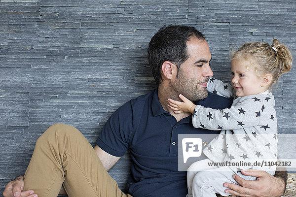 Vater und Tochter  Porträt