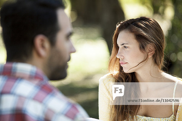 Woman contemplating things to come