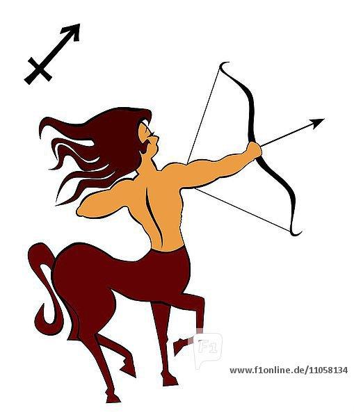 Sternzeichen Schütze  Horoskop  Illustration
