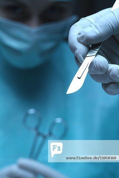 Operation  Chirurg  Hand  Skalpell