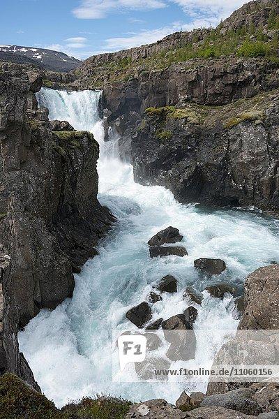 Waterfall  Fossá í Þjórsárdal river  Suðurland  Iceland  Europe
