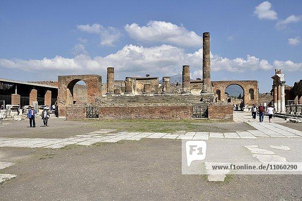 Forum  antike Stadt Pompeji  Kampanien  Italien  Europa