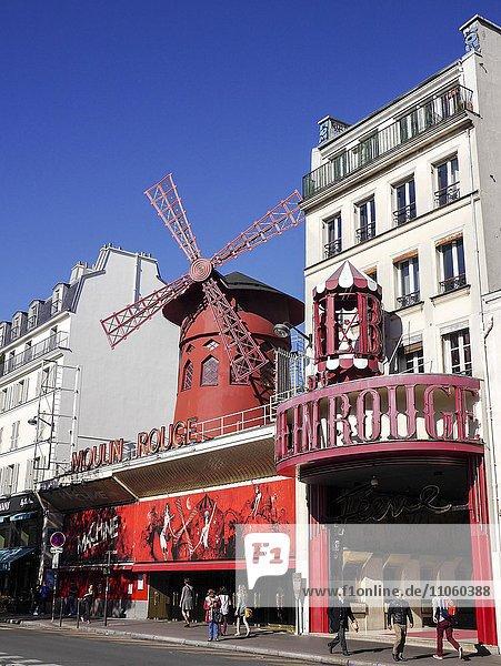 Moulin Rouge  Montmartre  Paris  Frankreich  Europa
