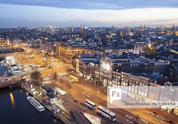 View over the old city of Amsterdam  Holland  The Netherlands  Europe