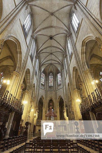 Halberstädter Dom St. Stephanus und St. Sixtus  gotische Kathedrale  Halberstadt  Sachsen-Anhalt  Deutschland  Europa