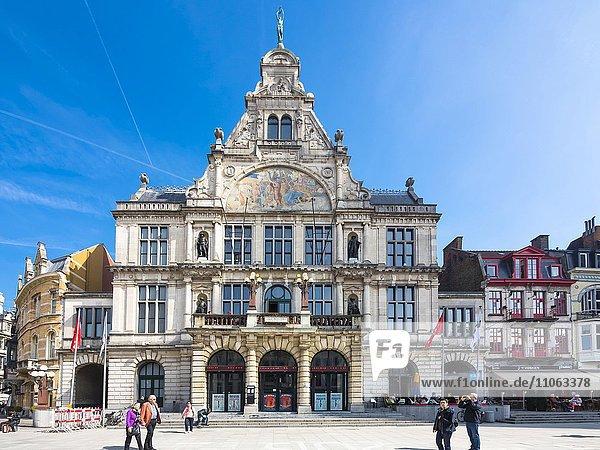 Theater Schouwburg am Sint-Baafsplein  Gent  Flandern  Belgien  Europa