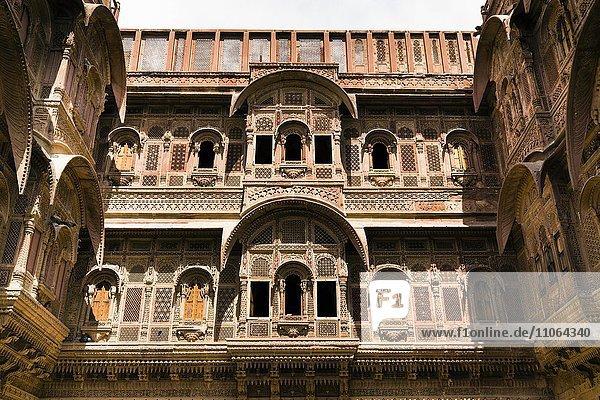 Mehrangarh-Festung  Innenhof  Jodhpur  Rajsthan  Indien  Asien