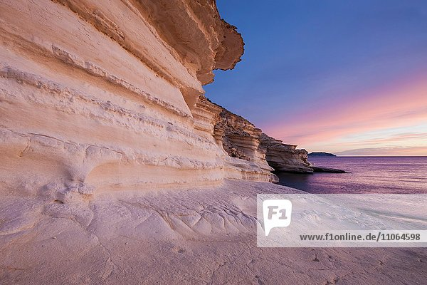 Coast in the Cabo de Gata-Níjar Natural Park  UNESCO Biosphere Reserve  Almería province  Andalucía  Spain  Europe