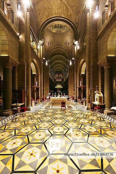 Neoromanische Kathedrale Notre-Dame-Immaculée  Innenraum  Fürstentum Monaco