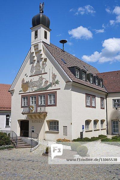 Rathaus  Bad Grönenbach  Bayern  Deutschland  Europa