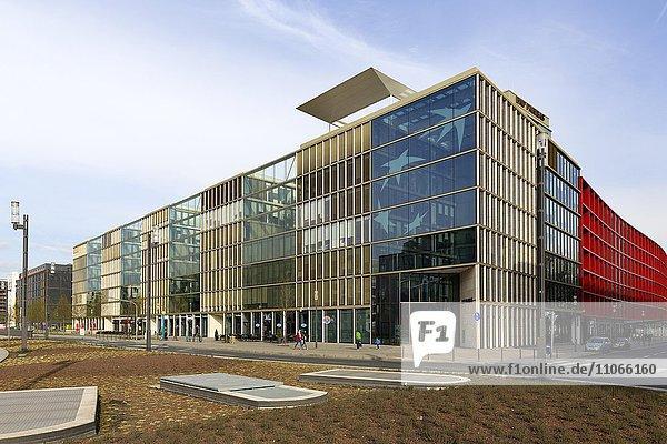 Bürogebäude Nord1  Europazentrale Bankhaus BNP Paribas  Europa-Viertel  Frankfurt am Main  Hessen  Deutschland  Europa