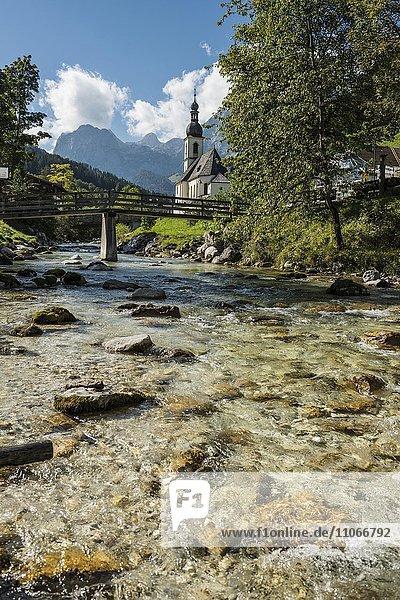 Pfarrkirche St. Sebastian  Ramsau  Berchtesgadener Land  Oberbayern  Bayern  Deutschland  Europa