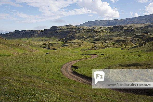 Kollumulavegur  Südisland  Island  Europa