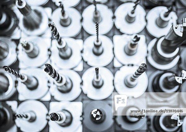 Verschiedene Bohrer  Sortiment einer CNC Fräse
