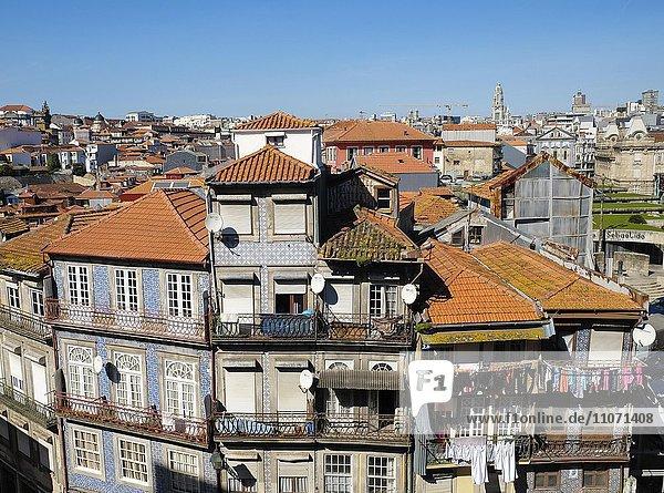 View over the historic centre  Porto  Portugal  Europe