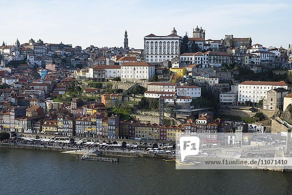View of Ribeira historic centre  Porto  UNESCO World Heritage Site  Portugal  Europe