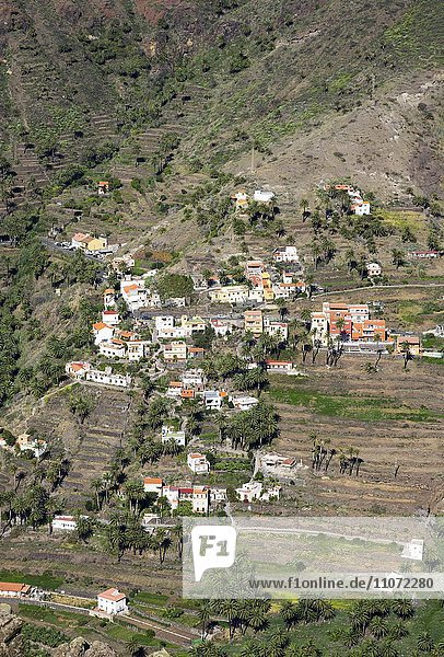 Lomo del Balo  Valle Gran Rey  La Gomera  Kanarische Inseln  Kanaren  Spanien  Europa