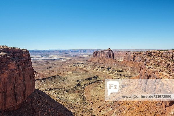 Canyonlandschaft,  Mesa,  Erosionslandschaft,  Felsformationen,  Monument Basin,  White Rim,  Island in the Sky,  Canyonlands-Nationalpark,  Utah,  USA,  Nordamerika