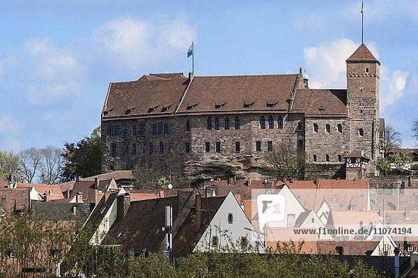 Nürnberger Kaiserburg  Nürnberg  Mittelfranken  Bayern  Deutschland  Europa