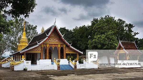 Wat  Buddhistisches Kloster  Luang Prabang  Provinz Louangphabang  Laos  Asien
