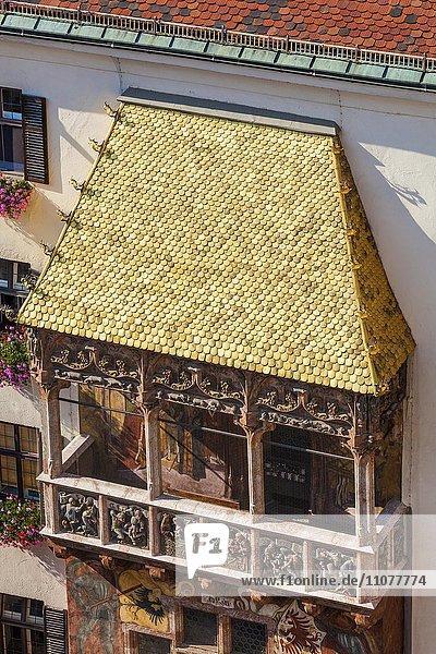 Europa Österreich Goldenes Dachl Innsbruck Tirol