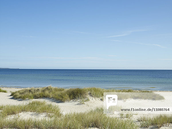 View of empty sandy beach