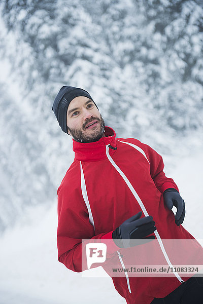 Man running at winter  Sweden