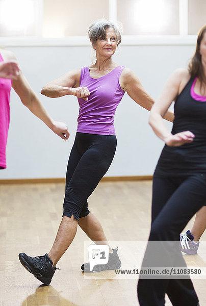 Women at aerobics classes