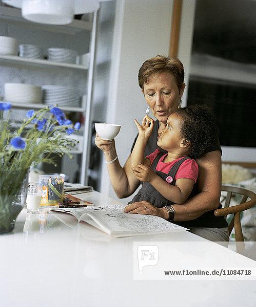 Grandmother with girl