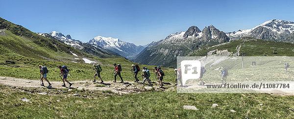 Frankreich  Chamonix  Bergsteiger bei Le Tour