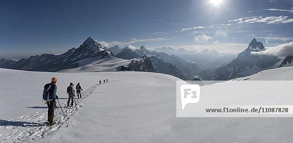 Switzerlalnd  Mountaineers heading to Matterhorn and Wandfluehorn