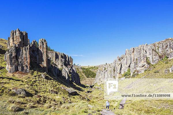 Peru  Cajamarca  Cumbe Mayo Archäologischer Komplex