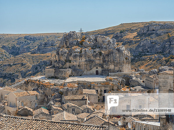 Italy  Basilicata  Matera  Rock church