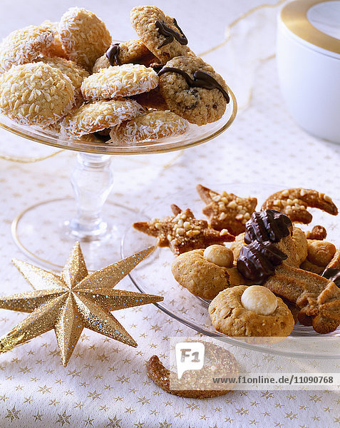 Auswahl verschiedener Weihnachtsplätzchen