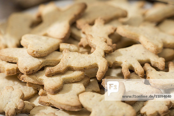 Close-up of different shaped cookies