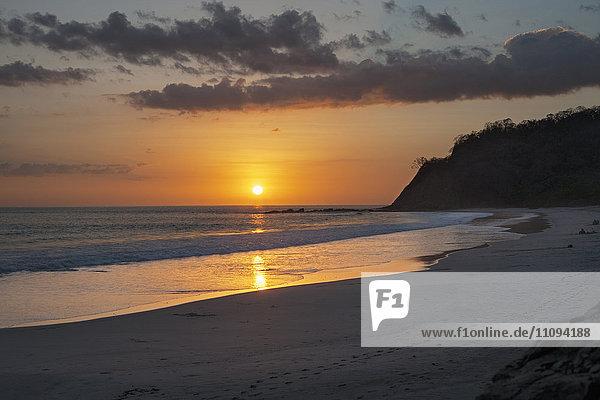 Sunset over sea  Samara  Costa Rica
