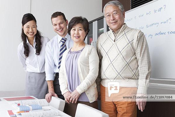 Teacher and Three Mature Students