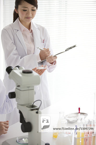Two Female Scientists in Laboratory