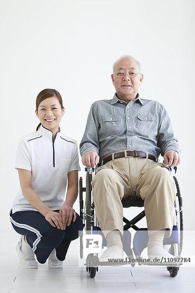 Nurse and Senior Male Patient