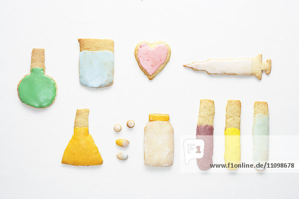 Cookies of laboratory equipment and healthcare