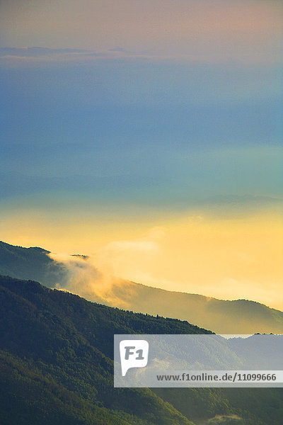 Mountain Landscape at Dusk