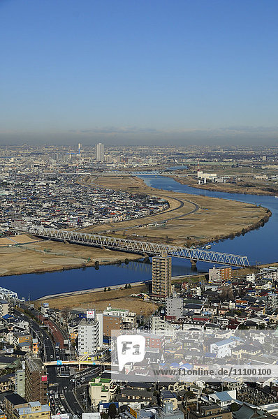 Cityscape of Ichikawa city  Chiba Prefecture  Honshu  Japan