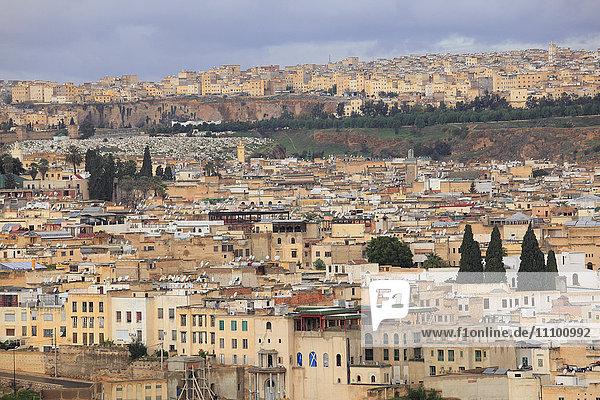 Cityscape of Fez  Morocco