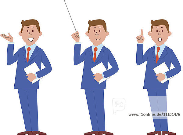 Illustration of businessman talking