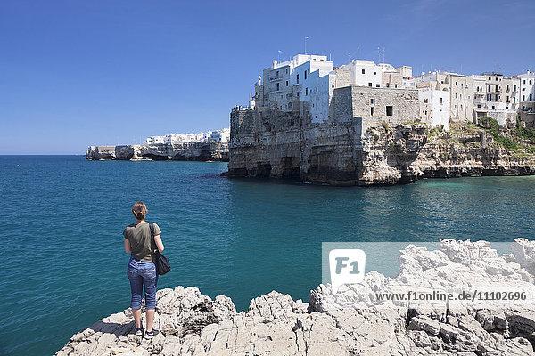 Polignano a Mare  Bari district  Puglia  Italy  Europe