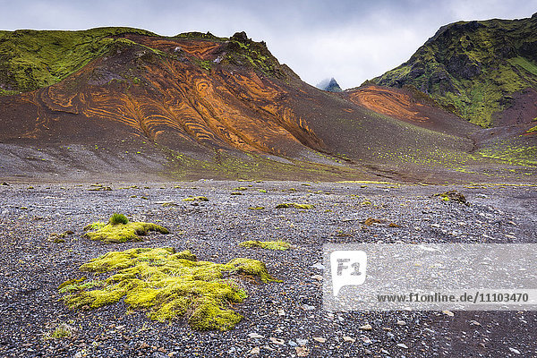 The Landmannalaugar region of the Fjallabak Nature Reserve in the Highlands of Iceland  Polar Regions